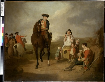 The Marquis of Granby giving Alms to a sick Soldier and his Family