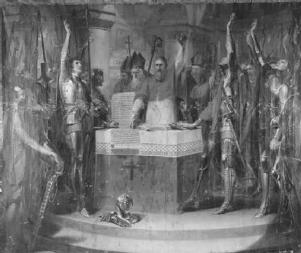 Cardinal Langton and the Barons at St Edmundsbury
