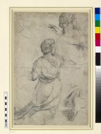 Recto: Studies for two kneeling Women Verso: Studies for two kneeling Women