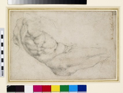 Study of a Recumbent male Figure in the New Sacristy of San Lorenzo
