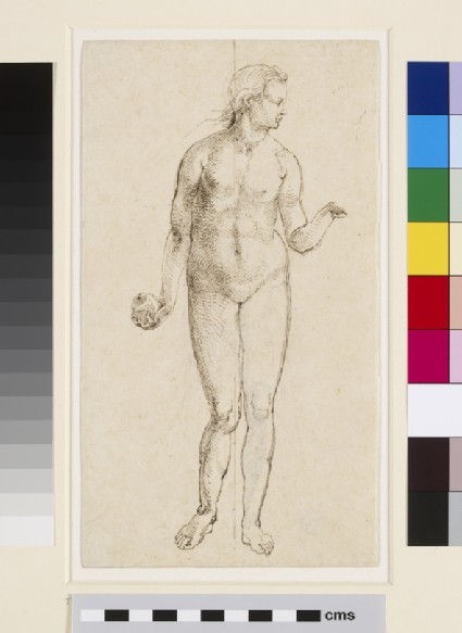 Recto: Eve  Verso: Slight sketch of Eve, traced from the front drawing
