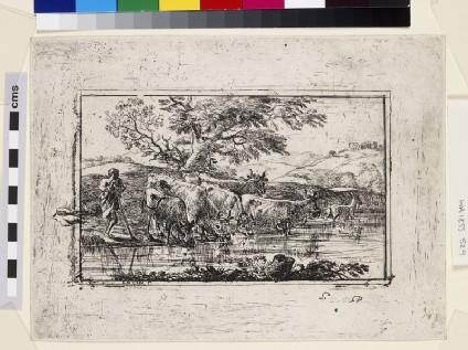 Le troupeau à l'abreuvoir (The herd at the watering-place)