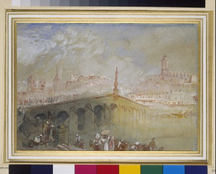 The Bridge at Blois: Fog Clearing
