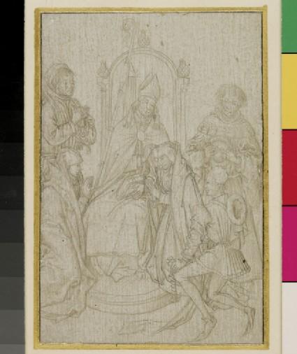 Recto: Penance<br />Verso:The Eucharist
