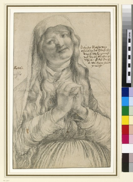 An Elderly Woman with Clasped Hands