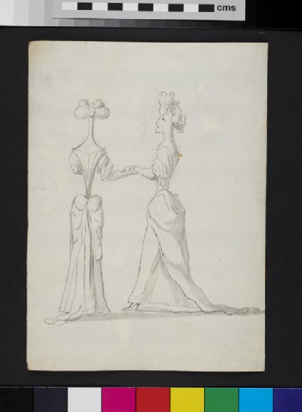 Caricature of two female Figures