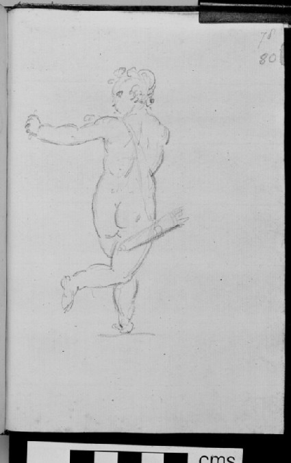 A figure shooting an arrow, probably Cupid, after a sculpture