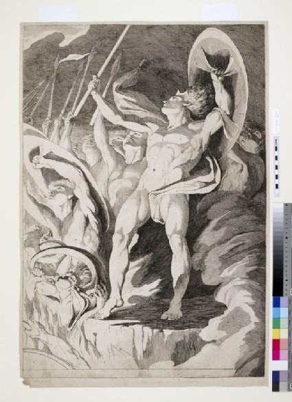 Satan and his Legions hurling Defiance toward the Vault of Heaven