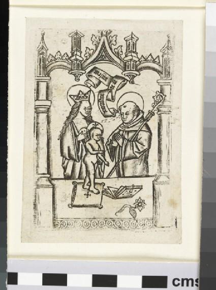 St Bernhard before the Virgin