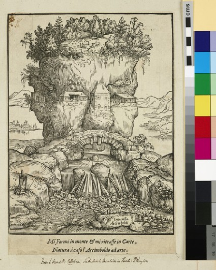 Head in form of a mountain or Anthropomorphic Landscape