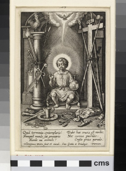 The Infant Jesus surrounded by the instruments of the Passion