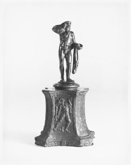 Octagonal pedestal with bacchic figures