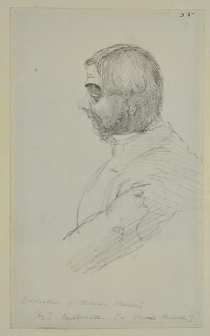 Caricature of Holman Hunt