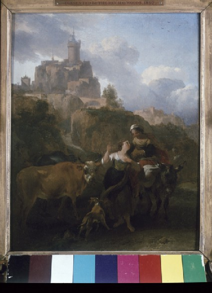 Landscape with Figures and Animals before a Castle