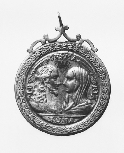 Pendant with Christ and the Virgin and the Crucifixion