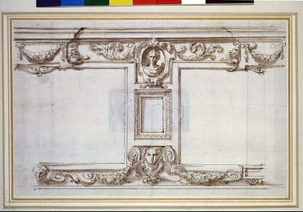 Design for an Ornamental Wall Panel in the Garden at Oatlands
