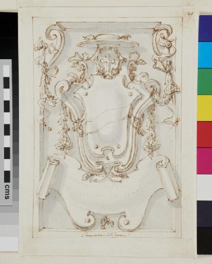 Design of the arms of Thomas Philip d'Alsace de Bossu