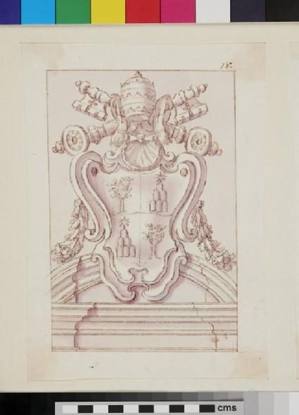 Design of the arms of Pope Alexander VII, Fabio Chigi