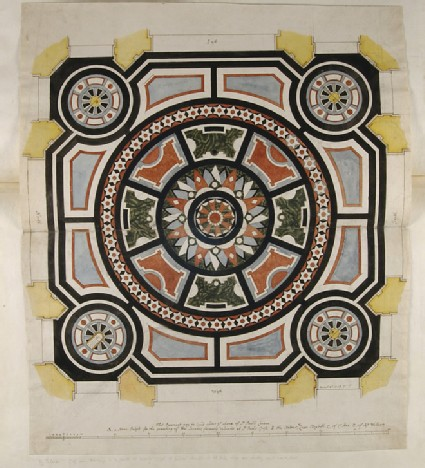 Design for a Marble Pavement beneath the Dome of St Paul's Cathedral