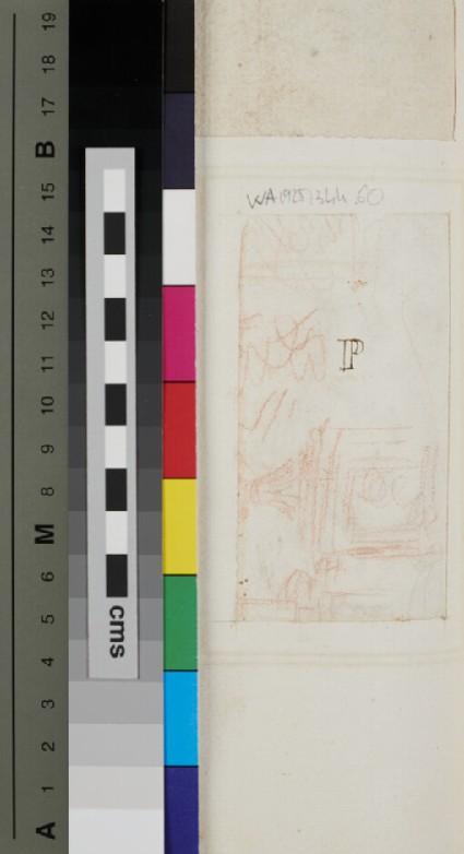 Recto: Design for an ornament<br />Verso: architectural sketch