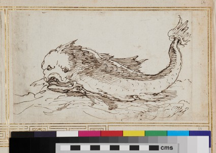 Sketch for an ornament with a marine creature