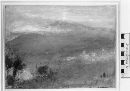 Etna from Taormina, at dawn