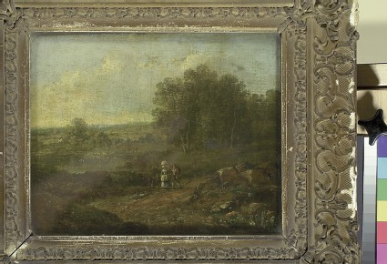 Landscape with two Figures walking along a Track