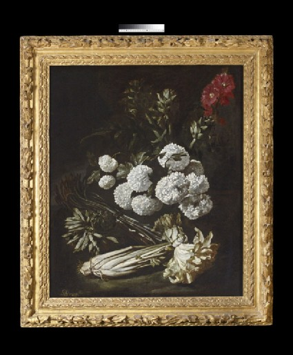 Still Life of Flowers and Vegetables