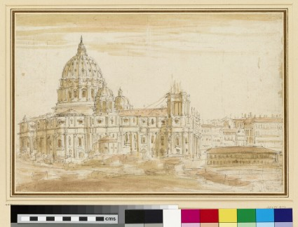 The Basilica of St Peter's in Rome, seen from the south