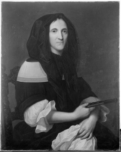 Portrait of a Lady wearing a black Mantilla