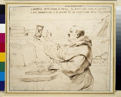 Caricature of Fra Bonaventura Bisi