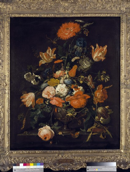 Flowers in an ornamental Vase
