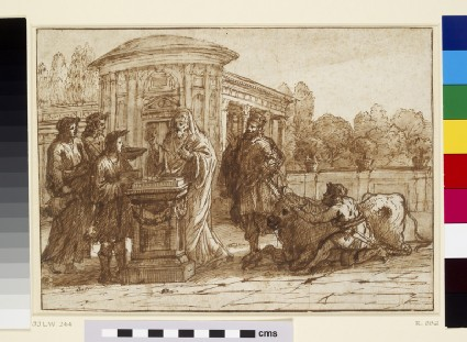 A scene of sacrifice in antiquity