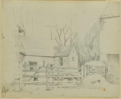View of a barn at Kelmscott Manor