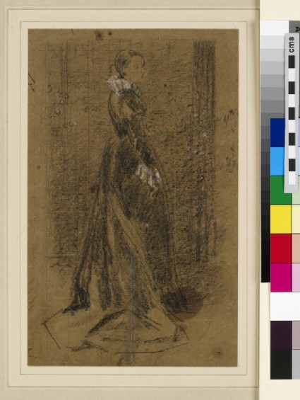 Study for Full-Length Picture of Mrs Louis Huth