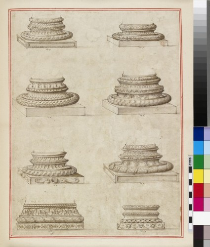Eight column bases