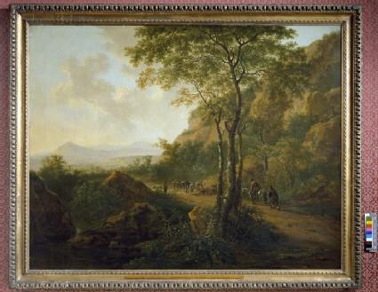 Italianate Landscape with Muleteers