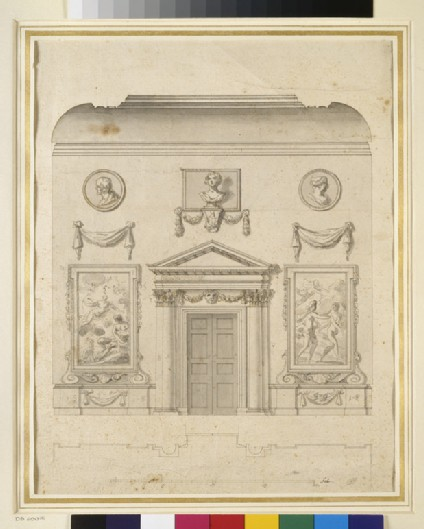 Drawing for the north wall of the hall of Ditchley House