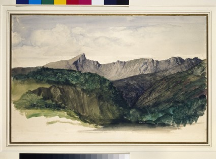 Study of a Distant Range of Mountains (Ben Nuis above Glen Rosa, Isle of Arran)