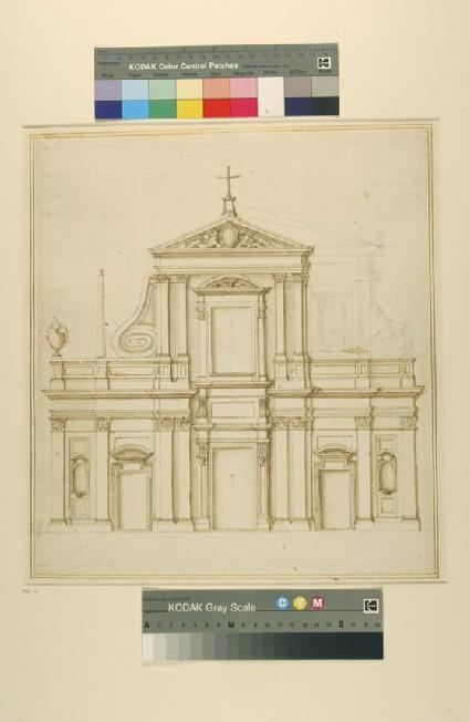 Design for a facade of a church