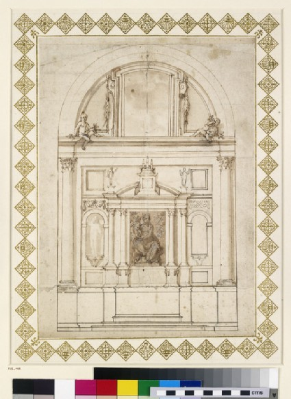 Design for an elevation of the back wall of the Chapel of the Dukes of Urbino at Loreto