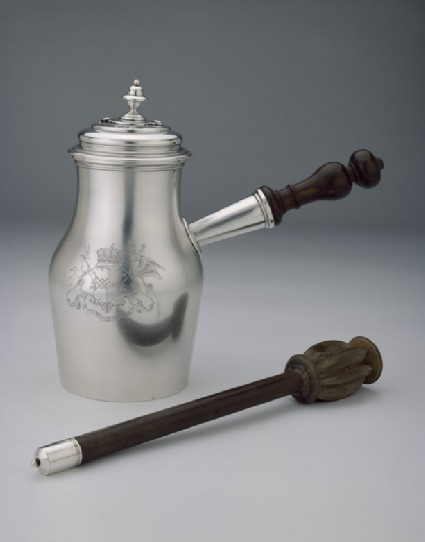 Chocolate Pot with Swizzle-stick