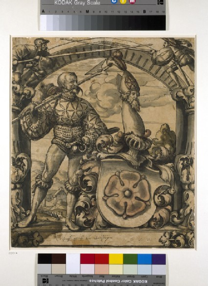 Design for an heraldic panel of stained glass