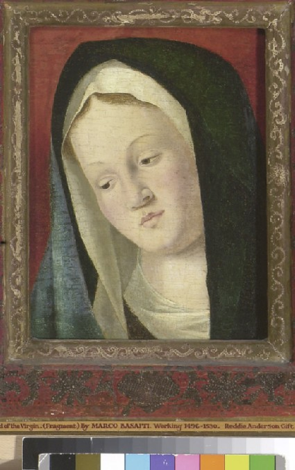 Head of the Virgin (fragment)