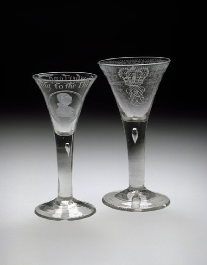 Duke of Cumberland commemorative wineglass