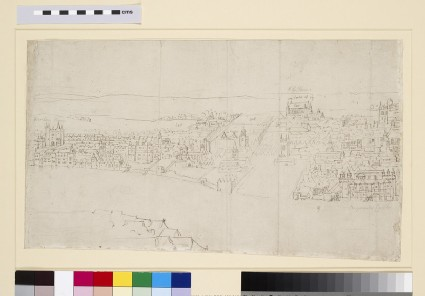 Panorama of London as seen from Southwark: Durham House to Barnard's Castle