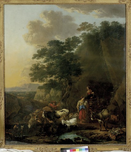 Peasants with Cattle fording a Stream