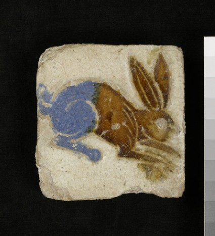 Tile with a rabbit