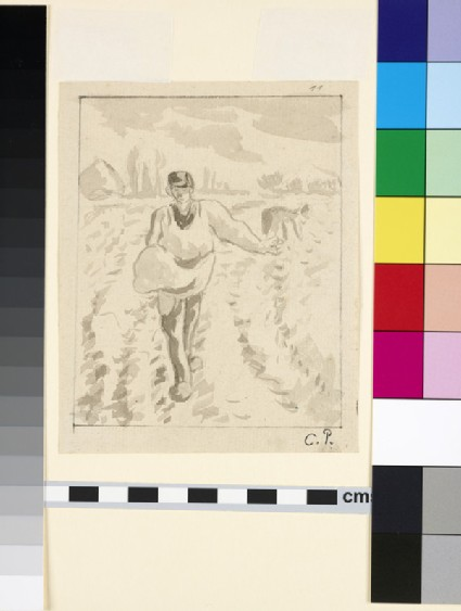 Compositional study of a sower in a field