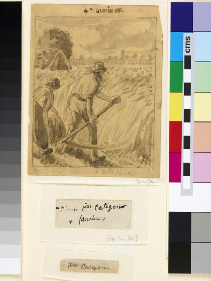 Compositional study of a male peasant scything
